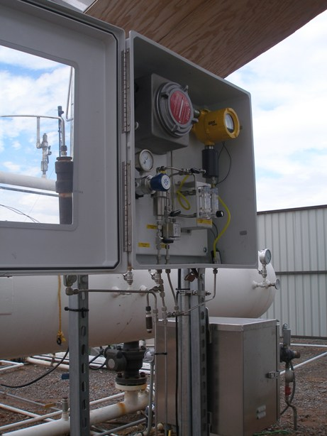 Installed GDS-68 Methane stream monitor